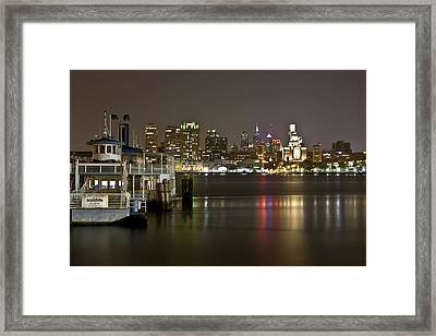Ferry To The City Of Brotherly Love Framed Print