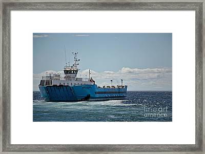 Ferryboat In Chilean Waters Framed Print