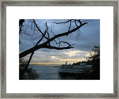 Ferryboat To Seattle  Framed Print by Kym Backland