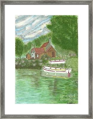 Ferryman's Cottage Framed Print by Tracey Williams