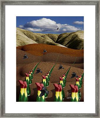 Fertile Ground Framed Print by Keith Dillon