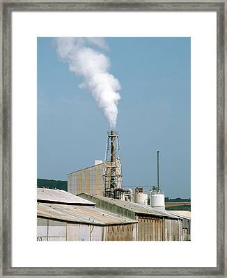 Fertiliser Factory Smokestack Framed Print by Alex Bartel