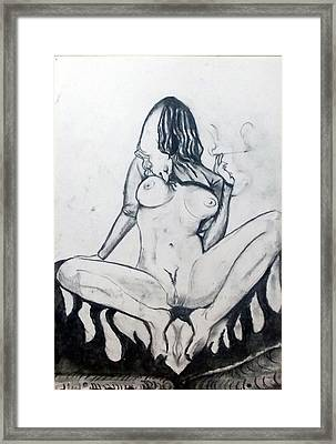 Framed Print featuring the drawing Fertility Fertilidad by Lazaro Hurtado