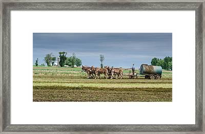 Fertilizing Framed Print by Guy Whiteley