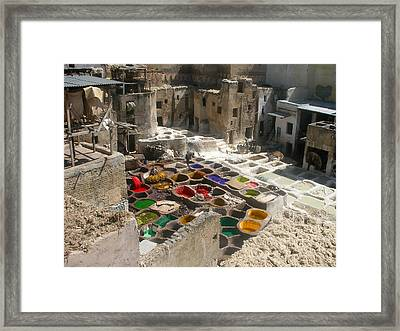 Fes Leather Treatment And Coloring  Framed Print by Ali ArtDesign