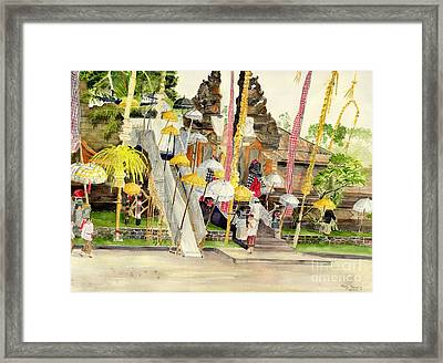Festival Hindu Ceremony Framed Print by Melly Terpening