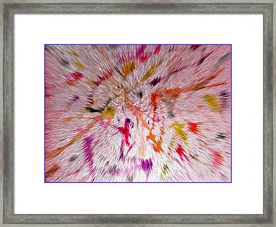 Festival Of Colours Framed Print by Sonali Gangane