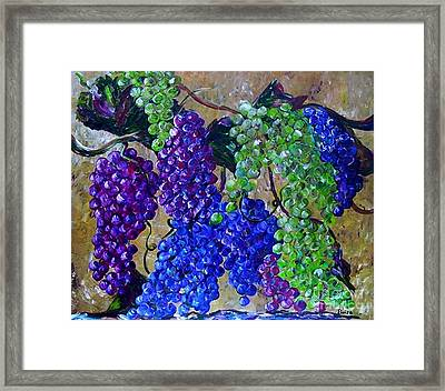 Festival Of Grapes Framed Print