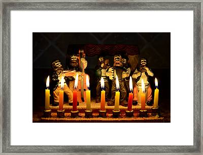 Festival Of Light Framed Print by Fraida Gutovich