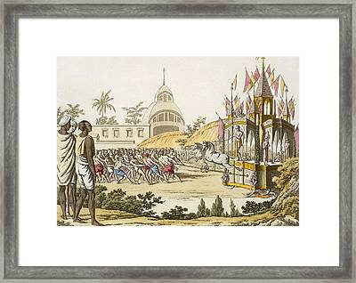 Festival Of The Dedication Framed Print by Franz Balthazar Solvyns
