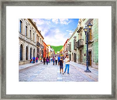 Festive Afternoon In Oaxaca - Historic Mexico Framed Print