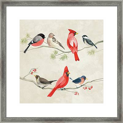 Festive Birds I Framed Print by Danhui Nai