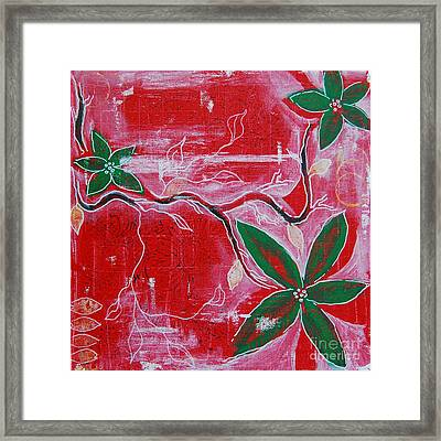 Framed Print featuring the painting Festive Garden 2 by Jocelyn Friis