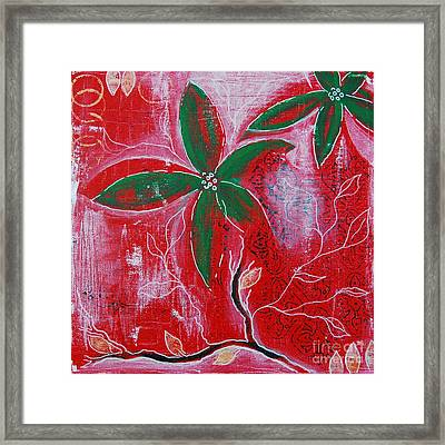 Framed Print featuring the painting Festive Garden 3 by Jocelyn Friis