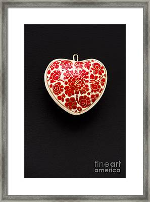 Festive Heart Framed Print by Anne Gilbert