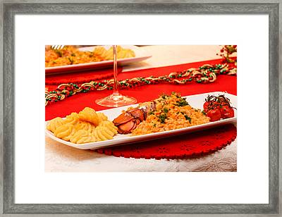 Framed Print featuring the photograph Festive Lobster Tail by Paul Indigo