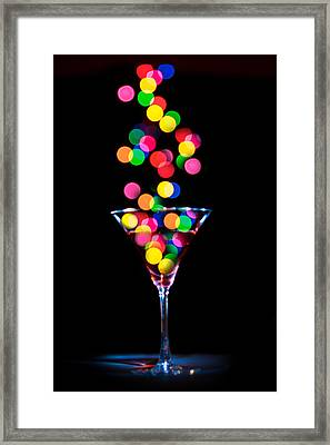 Festive Martini Framed Print by Cecil Fuselier