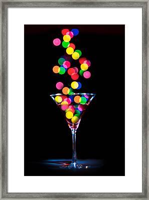 Festive Martini Framed Print