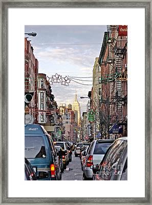 Festive Nyc Framed Print