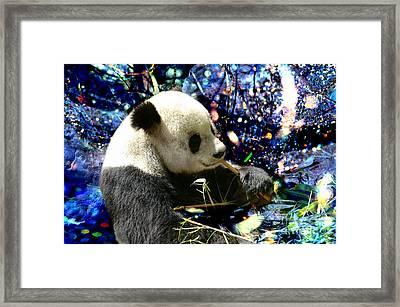 Festive Panda Framed Print