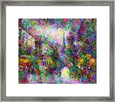 Festive Paris Framed Print by Georgiana Romanovna