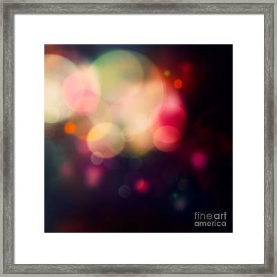 Festive Purple Background Framed Print by Mythja  Photography