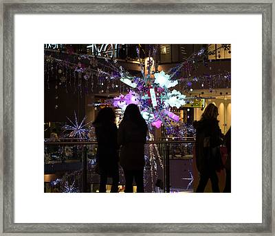 Framed Print featuring the photograph Festive Season Shopping by Paul Indigo