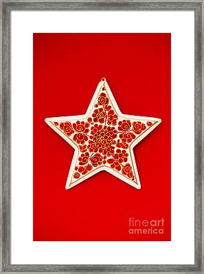 Festive Star Framed Print by Anne Gilbert