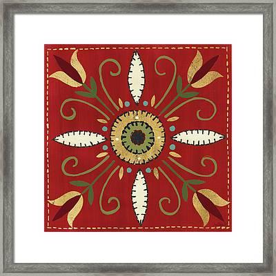 Festive Tiles I Framed Print