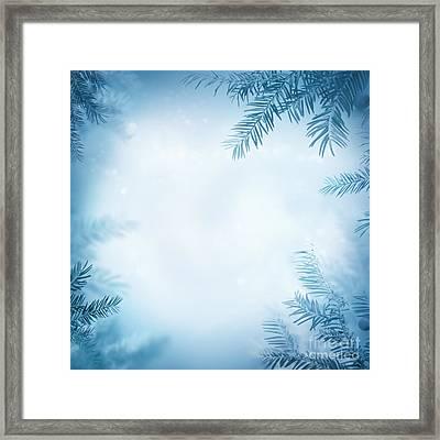 Festive Winter Background Framed Print