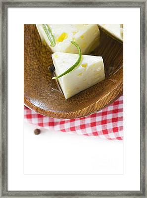 Feta Cheese Framed Print