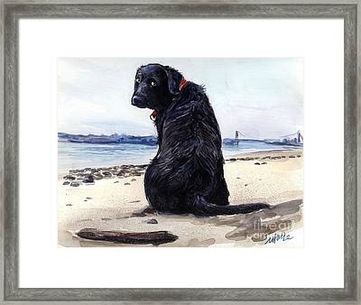 Fetching Framed Print