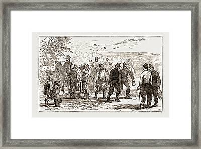 Fetching Water, Autumn Manoeuvers Uk 1873 Framed Print by Litz Collection