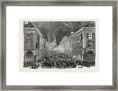 Fete Of Joan Of Arc, Orleans Illuminated Framed Print