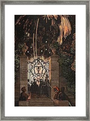 Feu D Artifice Framed Print by Konstantin Andreevic Somov
