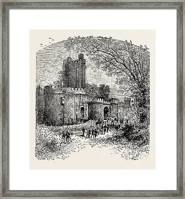 Feudal Castle In The Eleventh Century Framed Print