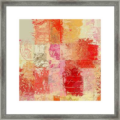 Feuilleton De Nature - S01t02a Framed Print by Variance Collections