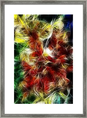 Framed Print featuring the digital art Feux Follets by Selke Boris