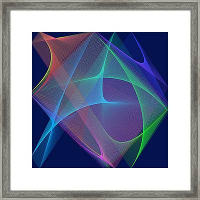 Framed Print featuring the digital art Fever by Karo Evans