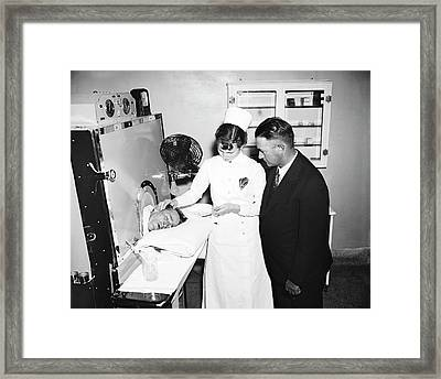 Fever Machine Treatment Framed Print by Library Of Congress