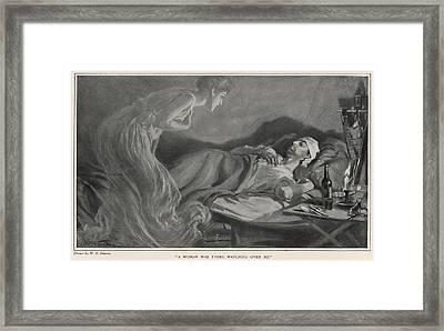 Fever Victim Hallucinates An  Unknown Framed Print