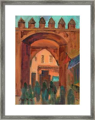 Fez Town Scene Framed Print by Diane McClary