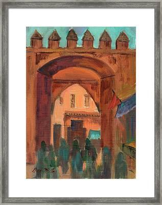 Fez Town Scene Framed Print
