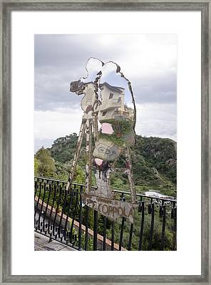 Ff Coppola Statue Framed Print by Bob VonDrachek