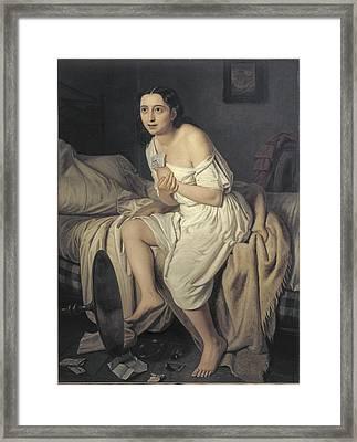 Fiamminghi, Giacomo 1815 - 1895. Love Framed Print by Everett