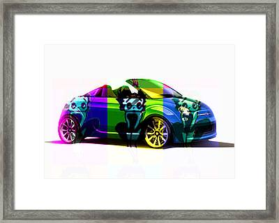 Fiat And Betty Boop Framed Print