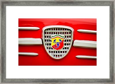 Fiat Emblem Framed Print by Jill Reger
