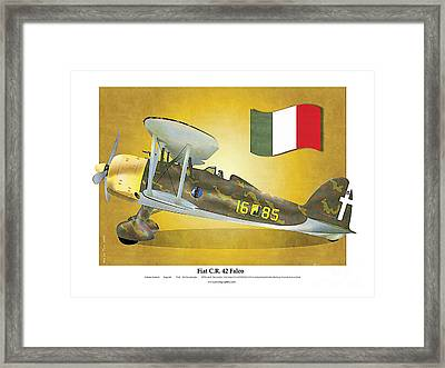 Fiat Falco C.r.42 Framed Print by Kenneth De Tore