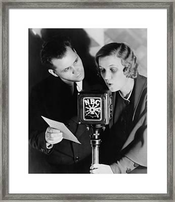 Fibber Mcgee & Molly Radio Show Stars Framed Print