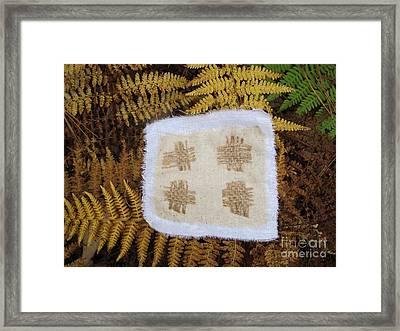 Fiber On Ferns Framed Print by Linda Marcille